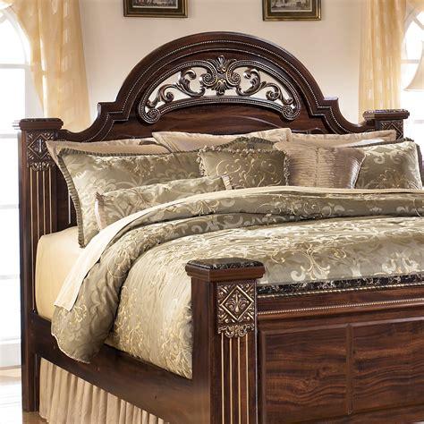 headboards ashley furniture ashley furniture gabriela dark reddish brown traditional