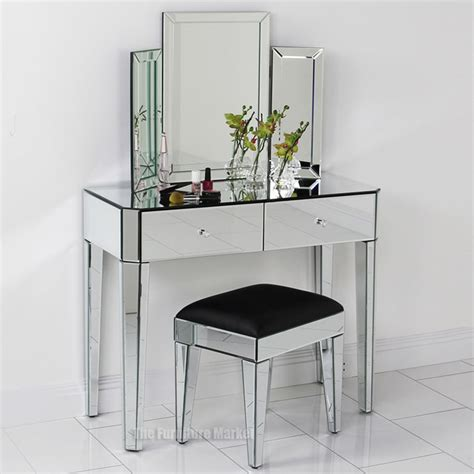 Glass Vanity Table With Mirror Vanity A Serene Peacful Place Dressing Vanities And Compact
