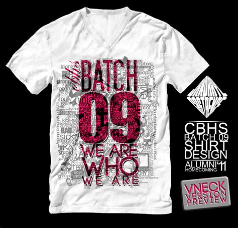 design t shirt batch cbhs batch 09 shirt vneck pre by jdbc encore on deviantart