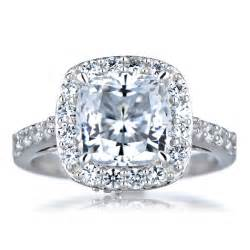 Cushion Cut Halo Engagement Rings Sheera S Cushion Cut Cz Halo Engagement Ring 8mm