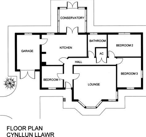floor plan uk arosfa 3 bedroom timber frame bungalow with conservatory