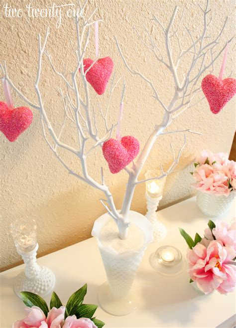 Artificial Home Decor Trees by Valentine S Day Vignette