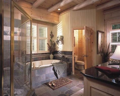 Log Cabin Bathroom Accessories Modern Cabin Decor And Looks My Home Style