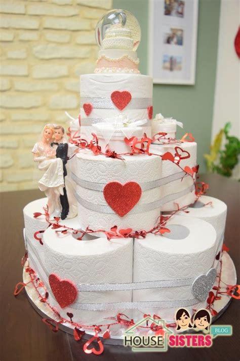 Hochzeitstorte Basteln by Housesisters Diy Hochzeitstorte Als Geschenk