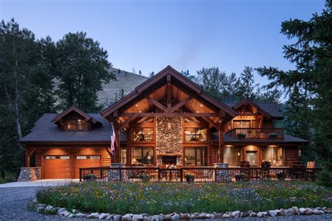 Rustic Timber Frame House Plans by Rustic Timber Frame Home The Rock Creek Residence