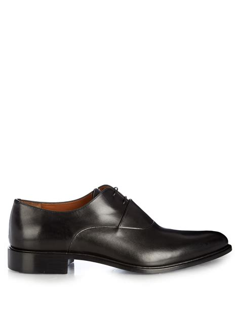 givenchy leather derby shoes in black for lyst