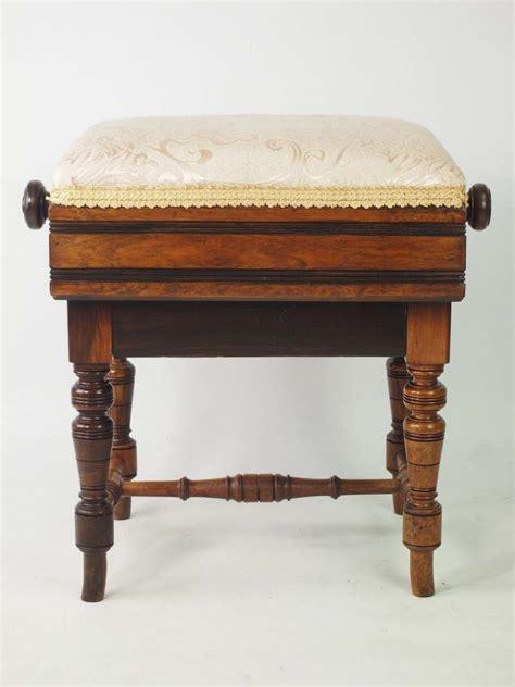 adjustable piano stool walnut antique piano stool ltd circa 1890