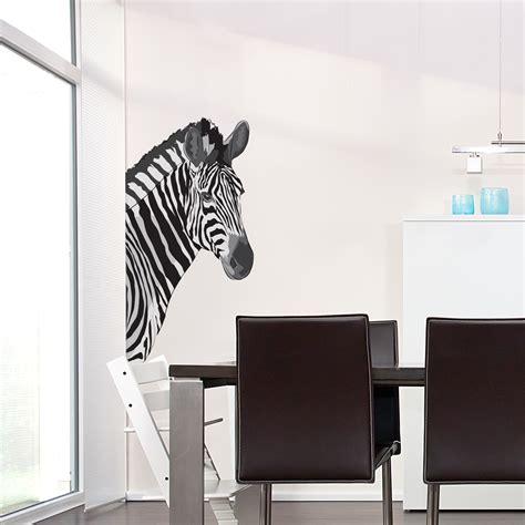 zebra stickers for walls zebra printed wall decal