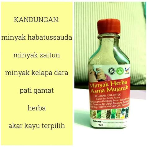 Minyak Kelapa Per Botol promosi murah minyak herba asma mujarab original produk