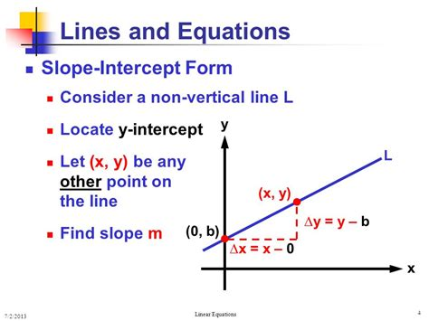 Line Equation Forms by Equations Of Lines Equations Of Lines Ppt