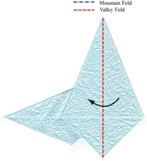 Flying Crane Origami - how to make a flying origami crane page 5