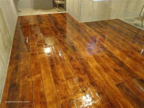basement concrete wood after epoxy cool floors pinterest
