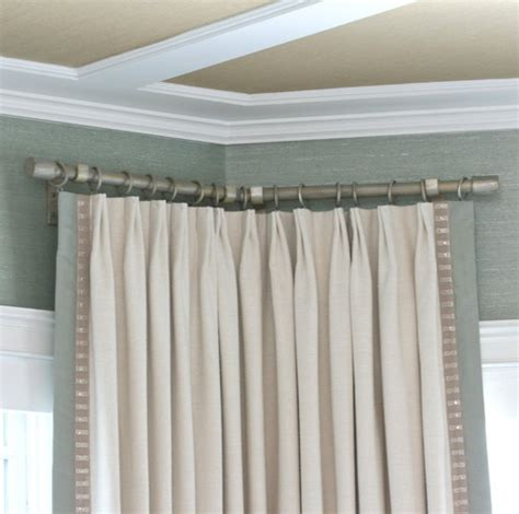 corner window curtain pole best 25 drapery hardware ideas on pinterest bay window