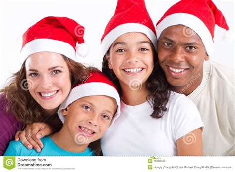 family christmas portrait stock image image of closeup