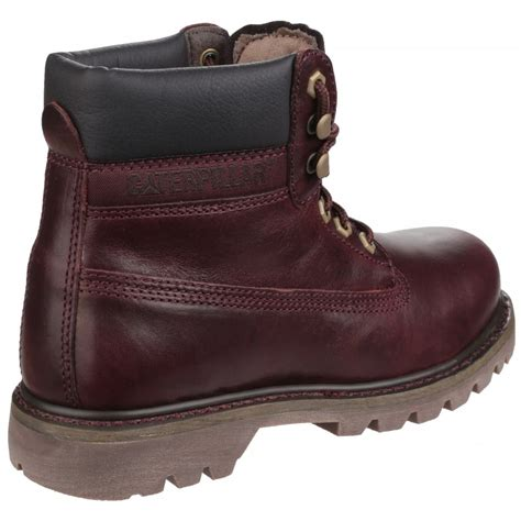 boots co uk caterpillar colorado lace up burgundy boots at shoes co uk