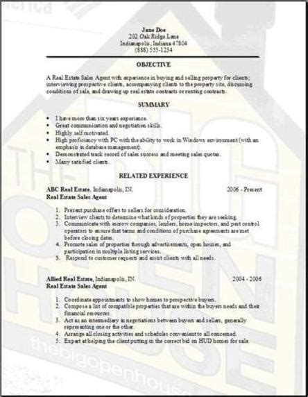 resume template for real estate agents real estate resume exles sles free edit with word