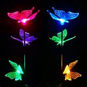 outdoor butterfly lights lighting outdoor lighting led solar lights solar