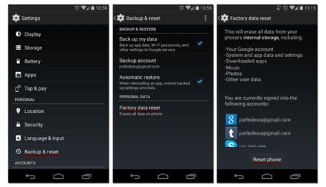 reset android settings only how to factory reset an android phone