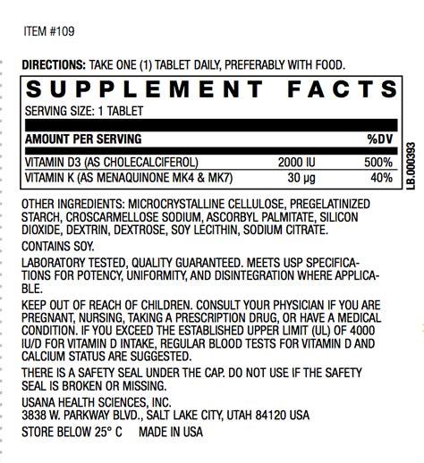 Vitamin Usana usana vitamin d what you need to
