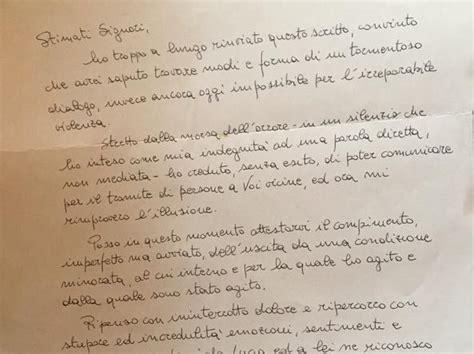 lettere di scuse per lui 171 ha ucciso la nostra lucia e chiede scusa in ventisei