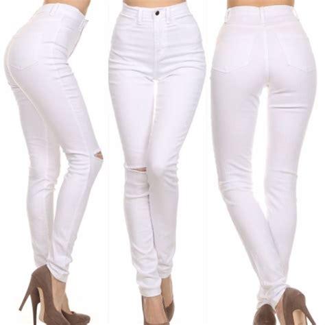 Highwaist White white high waisted bbg clothing