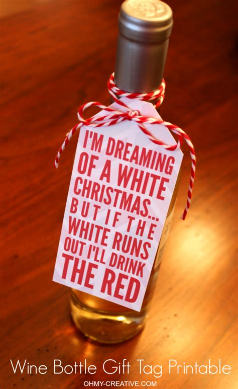 christmas wine bottle gift tag printable wine bottle gift  printable  bottle