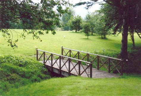 landscape bridge garden bridges 4 52ft long elegant wooden landscape garden