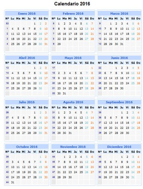 Calendario 2016 Numero Semana Search Results For Calendario 2015 Numeros Das