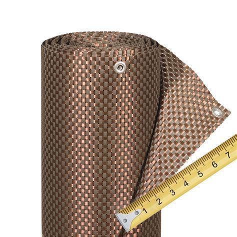 balkonverkleidung kunststoffgeflecht meterware mocca