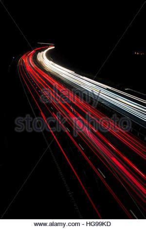 Car Lighting Oxfordshire Traffic Light Trails Of Vehicles Traveling And From