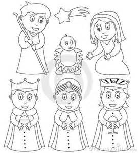 nativity character coloring pages christmas sketch template - Nativity Character Coloring Pages