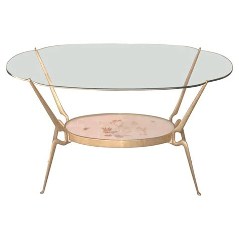 Gio Ponti Coffee Table Insectiform Glass Top Coffee Table By Gio Ponti At 1stdibs
