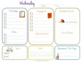Diary Planner Template Daily Planner Template