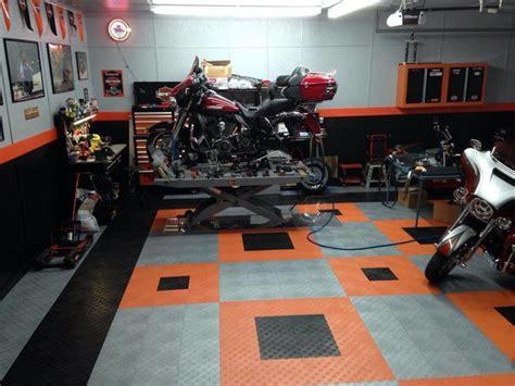 Harley Davidson Garage by Harley Davidson Home Garage With Racedeck Garage Flooring