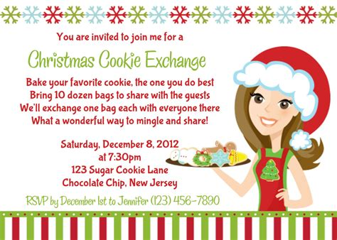 Cookie Exchange Party Invitations Cimvitation Cookie Invitations Templates