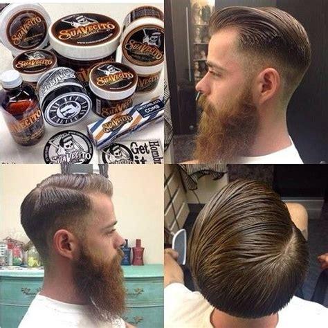 suavecito pomade har pomade hairstyle men beard