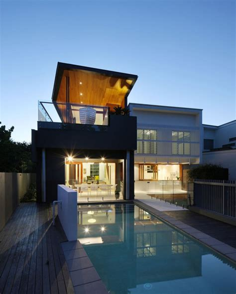 House Design Build Brisbane Contemporary 2 Story Residence In Brisbane Australia