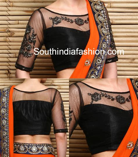 blouse pattern net saree boat neck net embroidered blouse blouse designs boat