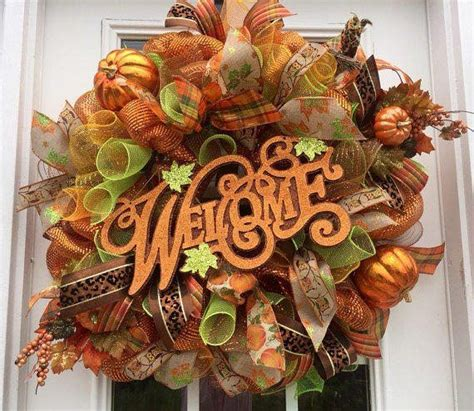 how to make a fall wreaths for front door fall deco mesh wreath ideas inspiring autumn decor for