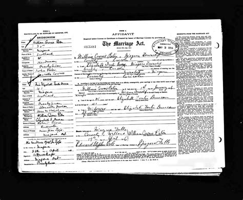 Marriages In Ontario Records Ontario Marriage Database 1857 1922 24 7 Family History Circle