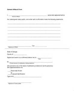 General Affidavit Template by Doc 7301000 Blank Affidavit Form Affidavit Form
