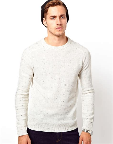 Sweater White lyst asos river island sweater in white for