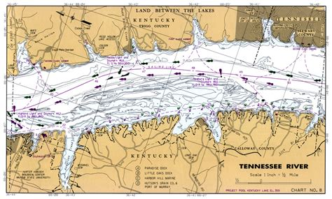 kentucky lake map tennessee tennessee river