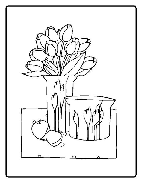 Parts Of A Flower Coloring Pages Parts Of A Flower Coloring Page