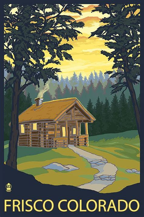 frisco colorado cabin in the woods prints