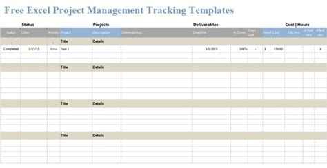Free Excel Project Management Tracking Templates Exceltemple Free Excel Project Management Tracking Templates