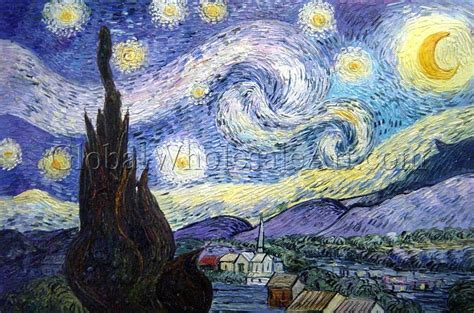 oil paintings global wholesale art vincent van gogh the starry night oil paintings on canvas