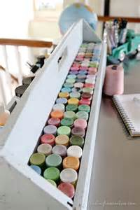 Pinterest Craft Paint Storage Table