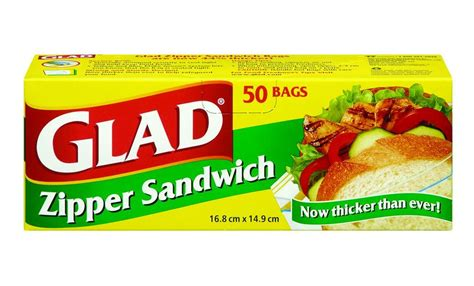 buy glad sandwich bags with zipper 50 pack from value valet