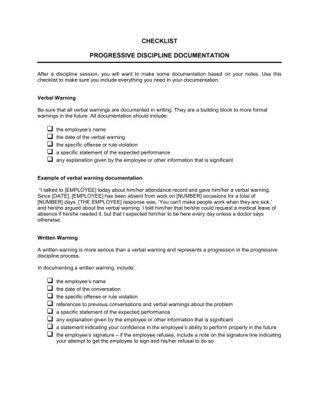 documenting employee issues template aktin